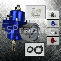 Free Shipping-Universal Blue Adjustable Fuel Pressure Regulator Gauge JDM FPR 1:1 0-140 PSI