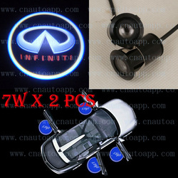 INFINITI LOGO Car LED Emblem Car Welcome Light Door Step Ground Projecting Lamp For FX M35h QX FX35 FX50 G37 etc(China (Mainland))