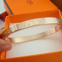 2014 Brand bracelet rose gold bracelet k14 steel rose gold bangle bracelet girls