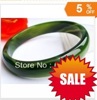 2013 NEW Beloved Natural beautiful green jade bracelet bangle big size 58MM +  Free shipping