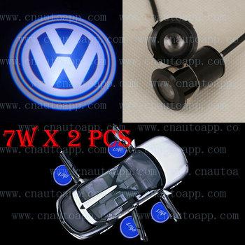Volkswagen LOGO Car LED Mark Door Welcome Light Door Step Ground Projecting Lamp For VW Scirocco/Golf/Beetle/Passat/Touareg etc