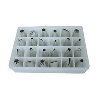 Free Shipping Baking Tools Stainless Steel 24 Cake Decorating Mouth Set Decorating Boxed