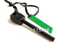 Free shipping Outdoor Survival Magnesium Flint Stone Fire Starter Lighter Kit