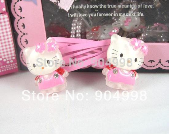 Hello Kitty girl hair clips Children headwear Hairpin 10pairs/lot No.021 Free Shipping(China (Mainland))
