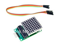 Wholesale 10pcs/lot MAX7219 Serial Dot Matrix Display Module with free dupont cable