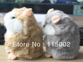 Free Shipping Set of 2 Tomy Mimicry Pet Hamster talking Plush Animal Toy Electronic A Talking Hamster Toys Doll(China (Mainland))