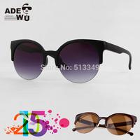 Famous Brand CAT EYE Sunglasses Women Round Retro Girl's Sunglass Ladies Glasses oculos de sol Feminino