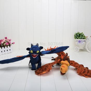 2pcs/lot 40cm How to Train Your Dragon Toothless Night Fury Firedragon nightmare Plush Toy Stuffed Teddy Dolls