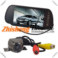 7 TFT Color LCD Car Rearview Mirror Monitorv + Remote controller + 170 Reverse CCD Camera