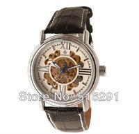Vintage mechanical watch strap genuine leather male table vintage large mechanical watch