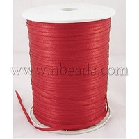 Satin  Ribbon,  Red,  3mm wide,  880yards/roll