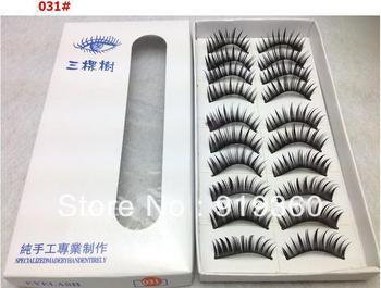makeup cosmetics Hot thick false eyelashes variety Mascara 10 pair a set,free shipping
