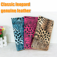2014 New!!!Hot Classic leopard genuine leather chain zipper fashion women's wallets/purse popular lady's hand bag free shipping