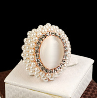 Designer 2014 New Fashion Jewelry 18K GP Exquisite Full Pearl Rings Naeis Nael For Women Free Shipping