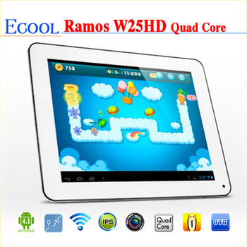 Ramos W25HD Quad Core 9.7inch Tablet PC 2048x1536 Pixel Retina IPS Screen Allwinner A31 16GB rom Android 4.1