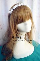 High quality fashion hand made beautyful white flower headbands hair band bridal wedding hair accessories for women