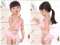 2013 newest 2-6 year girl 3 suit swimwear&Swimming cap,kid swimsuit,baby bikini&Free shipping&1lot/5pcs wholesales