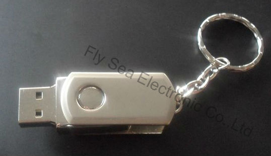 Free shipping!Genuine stainless Small swivel deisign Mass Memory 1G/2G/4G/8G/16G/32G usb flash wholesales for 10 pcs(China (Mainland))
