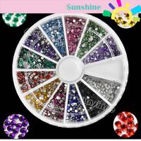 2000pcs 12 Colors Nail Art rhinestones Acrylic Nail Decoration For UV Gel Iphone and laptop DIY 4056