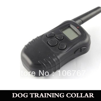 lcd display shock vibrate remote dog training collars easy to use and ergonomic transmitter 2pc/lot freeshipping
