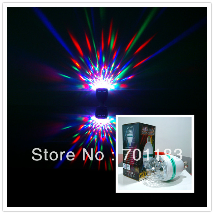 2013 Newest 3W Mini LED Crystal Ball DMX Light with Beautiful RGB Flower Rotating with GIFT BOX-LY366 (Bigger Size)(China (Mainland))