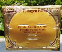 24K Gold Collagen Crystal Facial Face Mask Upgraded Black Packaging   20pcs