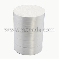 Satin Ribbon,  White,  about 12mm wide,  25 yards/roll,  250yards/group,  10rolls/group