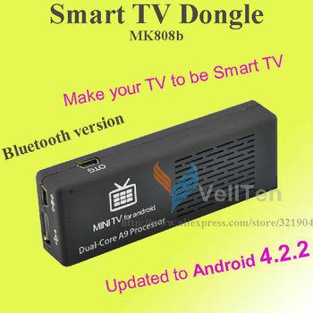 Bluetooth Google Smart TV BOX Android 4.2.2 Media Player MK808b mini PC WiFi 1080P HDMI 1.6GHz Cortex-A9 8GB Dual Core Airplay