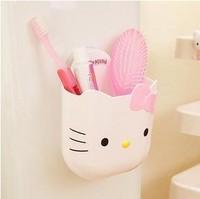 Kawaii Multi-Function Cartoon Animal Suction Disc Organizer Box Toothbrush Holder Pencil Holder Accessories for Bathroom Retail