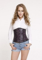 Free Shipping Wholesale and Retail Special Occasion Waist Training Leather Sexy Underbust Corset DH7031