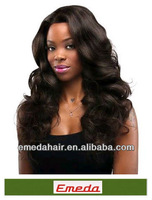 High Quality New Star Hair #1b Color Brazilian body wave lace front wig 100% Brazilian Virgin Hair For Your Nice Hair
