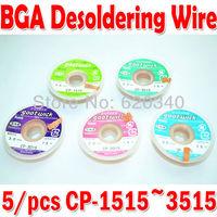Freesshipping 5 pcs/lot The Best BGA Desoldering Wire CP-3515/1515/2515/3015/2015 3.5mm x 1.5m goot wick / Soldering Accessory