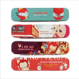 pencil box pencil case mental pencil box 4 pieces of pencil box(China (Mainland))