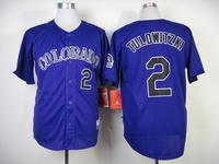 Mix Order Colorado Rockies 2# troy tulowitzki Purple Baseball Jerseys Embroidery logos cool base Free Shipping Size 48-56