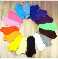 2013 1 lot =10pairs =20pcs C009 spring and summer and autumn cute women sock slippers candy color cotton free shipping