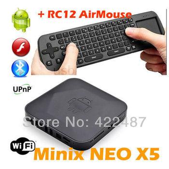 MINIX NEO X5 RK3066 Dual Core Cortex A9 Google Smart Android 4.1 TV Box Wifi Bluetooth USB HDMI with RC12 Air mouse XBMC