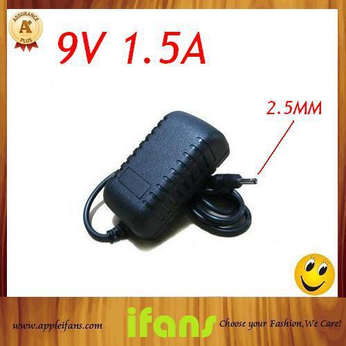 5Pcs/Lot 2.5mm 9V 1.5A Tablet PC Charger Power Adapter(Hong Kong)