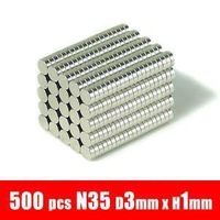 2015 seconds kill hot sale 500pcs 3mm x 1mm disc powerful magnet craft neodymium  rare earth permanent strong n50 n52 holds 250g
