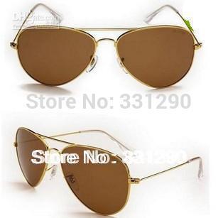 Women's Classic sports metal small box large 3025 3026 sunglasses Men's sunglasses(China (Mainland))