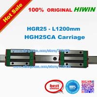 100% genuine original HIWIN BRAND Linear Guide1lot  2pcs HGR25 1200mm rail with 4pcs HGH25CA carriage