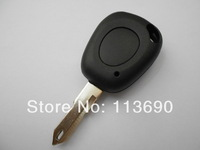 Free shipping 1 Button Remote Car Key Shell Blank case cover  blade 206 type with a small hole For Renault