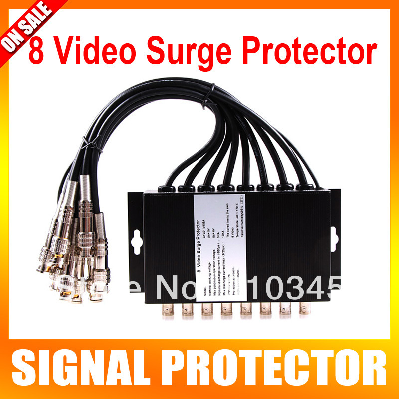 8 Channels CCTV BNC Coaxial Video Surge Protector Protection Device SPD ofr DVR System Thunder Lightning Arrester(China (Mainland))