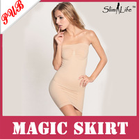 100pcs/lot Ladies' Body Slimming Body Slip Strapless Magic Skirt Shapewear (OPP bag)