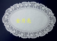 "8.5""*12"" oval paper lace doilies cake placemats embossed paper"