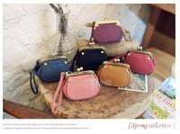 New Women Wallet Casual Retro Bead Buckle Korean Cute Purse Mini Bag Change Packet Wholesale Free Shipping