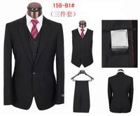 2014 New Top Branded Man Business Suits,coat+pants+vest Brand Tuxedo Suit High Quality Wedding Suit