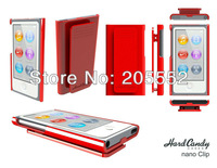 MOQ 1pcs High Quality hard Candy Case with clip for iPod Nano 7 with Retail package + freeshipping