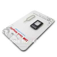 Free shipping 2000 pcs  Nano SIM Card adapter+Sim Card Tray Holder Eject Pin Key Tool for iPhone 5
