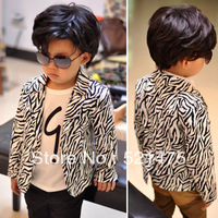 Promotion!!Free Shipping IN STOCK High Quality Baby zebra-stripe Outwear Boys Coats Children's clothing boys fashion Jacket