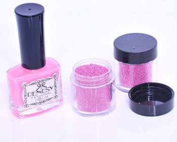 Hot Sale Caviar Nails Art New 18 Colors Manicures or Pedicures Nail Art Hot Sale 1 Set= 1 Nail Polish+2 Bottles Caviar Nails
